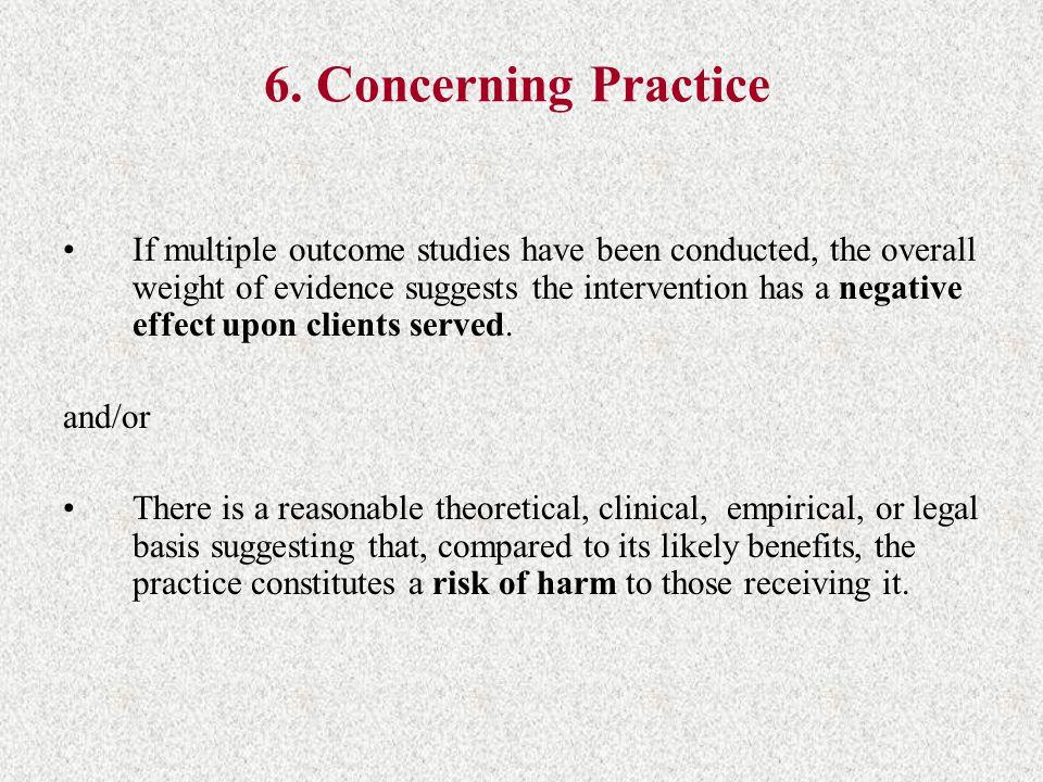 6. Concerning Practice