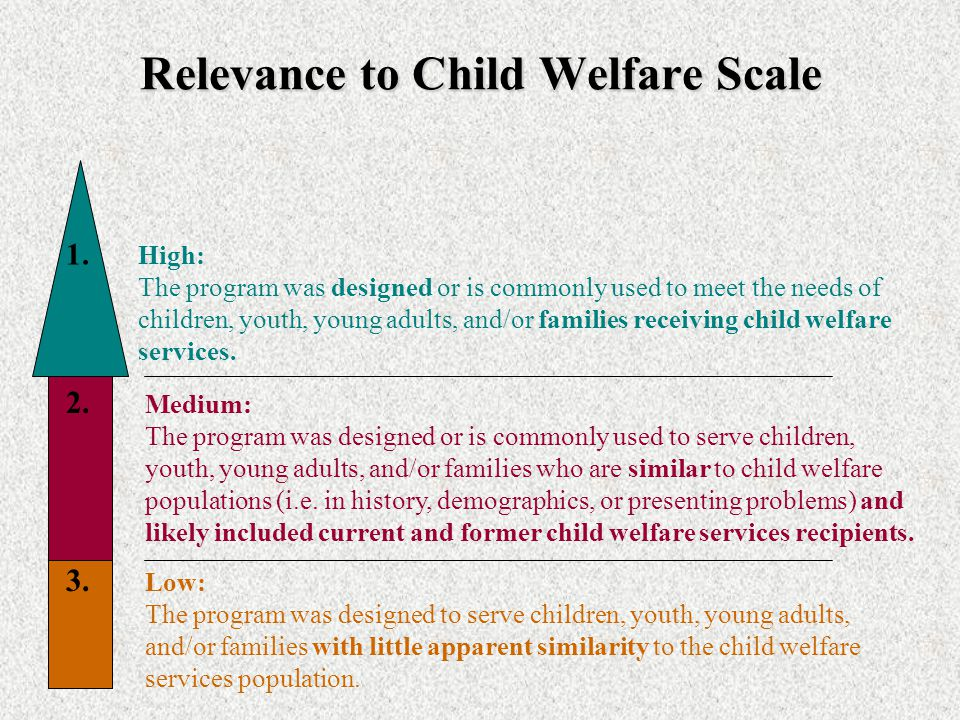 Relevance to Child Welfare Scale