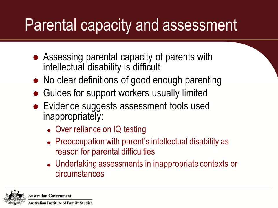 Parental capacity and assessment