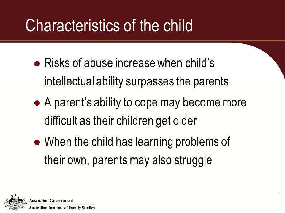 Characteristics of the child