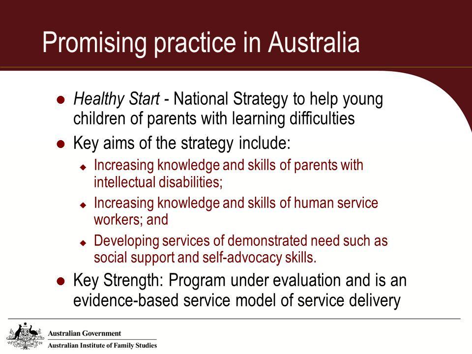 Promising practice in Australia