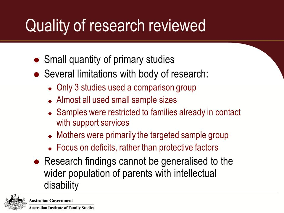 Quality of research reviewed