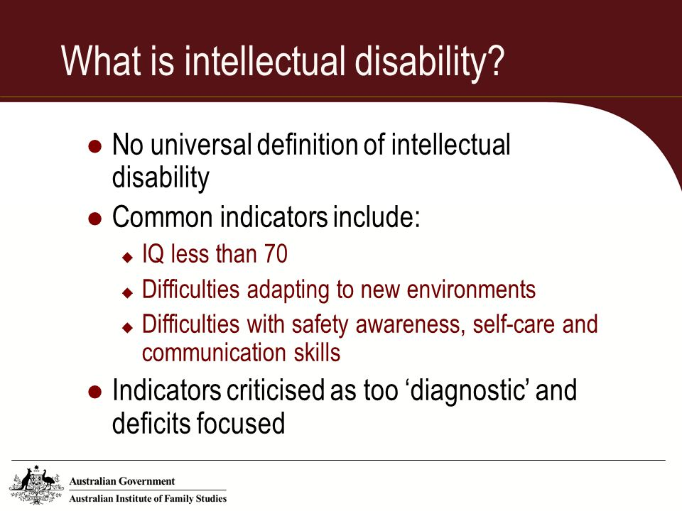 What is intellectual disability