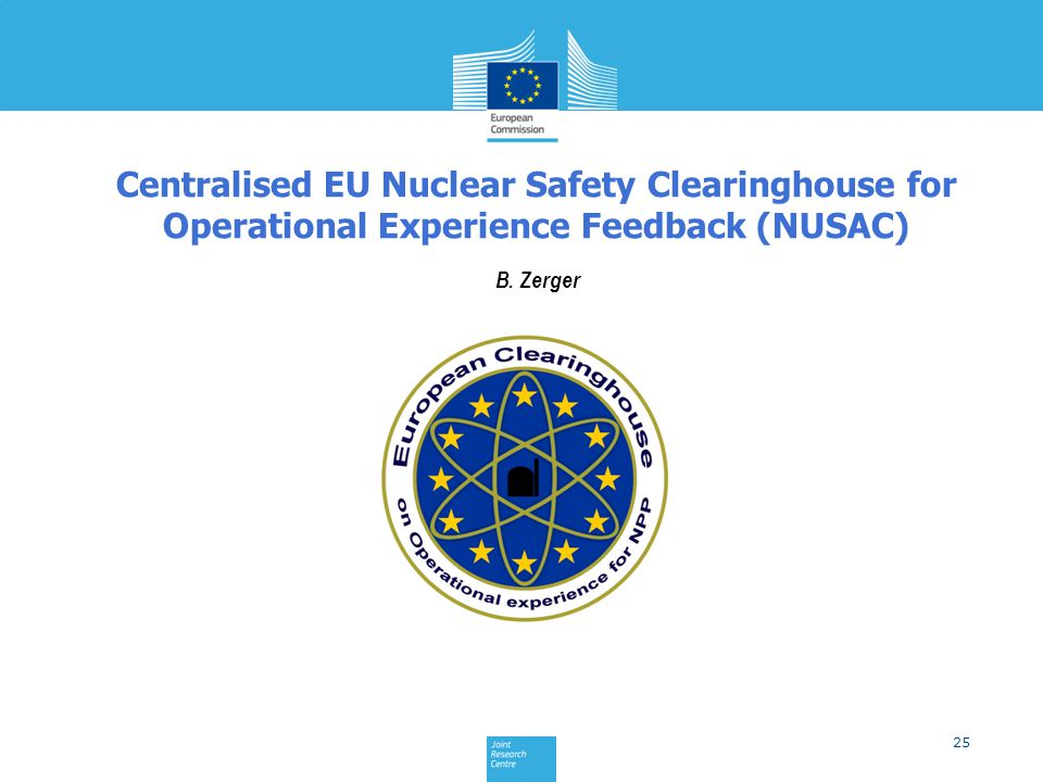 Centralised EU Nuclear Safety Clearinghouse for Operational Experience Feedback (NUSAC)