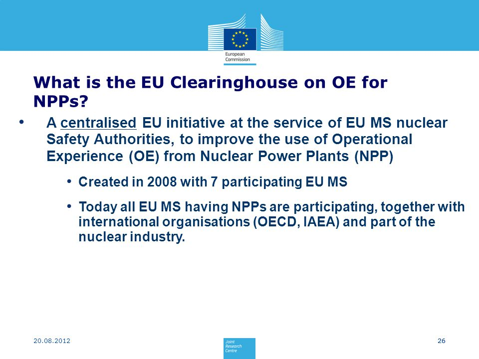 What is the EU Clearinghouse on OE for NPPs