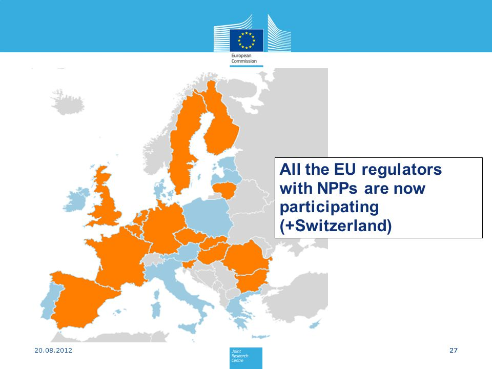 All the EU regulators with NPPs are now participating (+Switzerland)