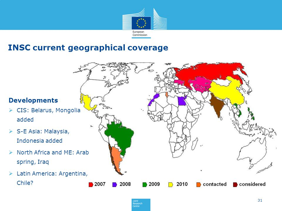 INSC current geographical coverage