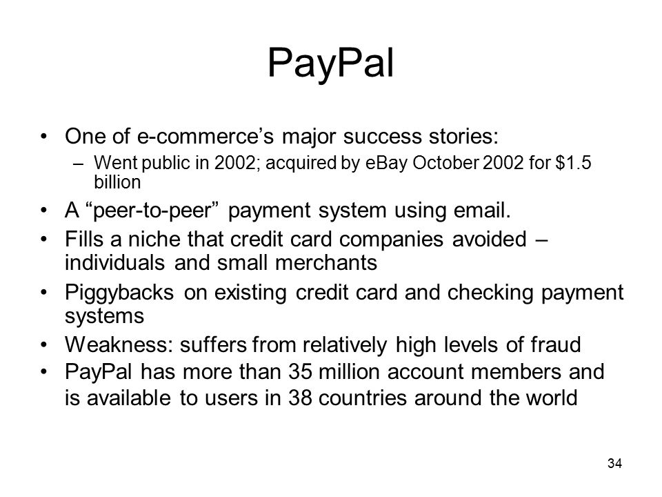 PayPal One of e-commerce's major success stories: