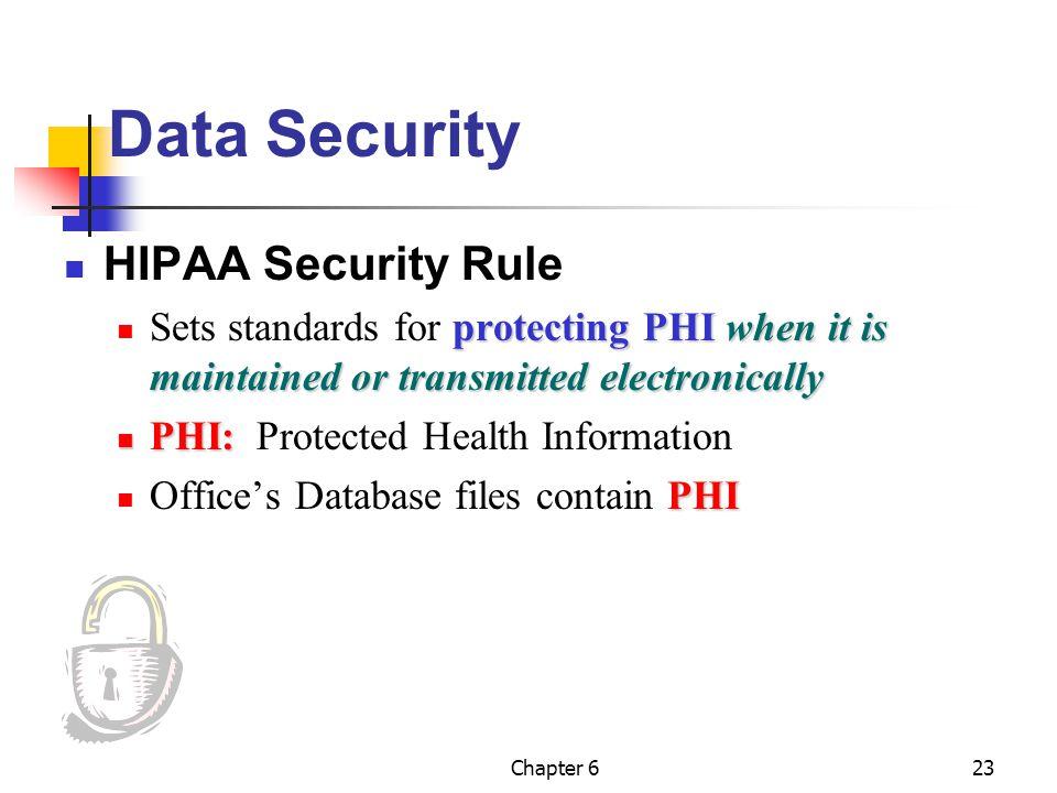 Data Security HIPAA Security Rule