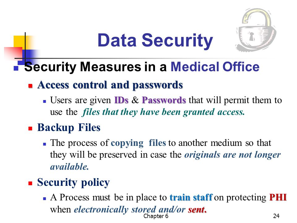 Data Security Security Measures in a Medical Office