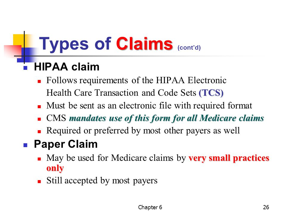 Types of Claims (cont'd)