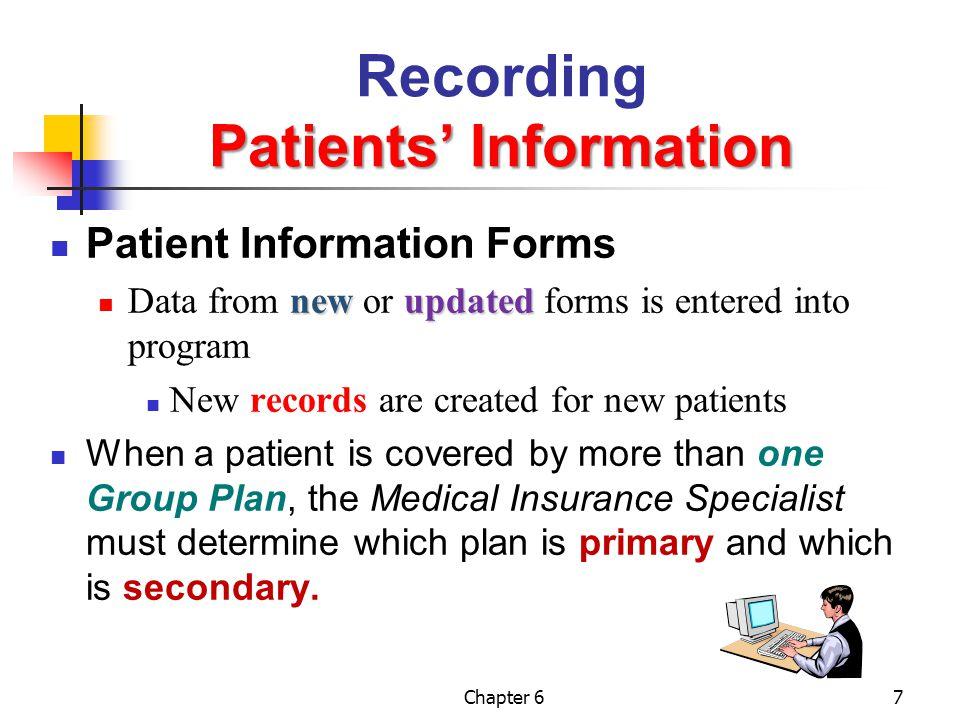 Recording Patients' Information