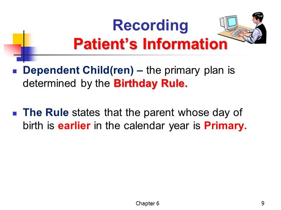 Recording Patient's Information