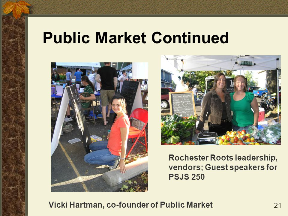 Public Market Continued