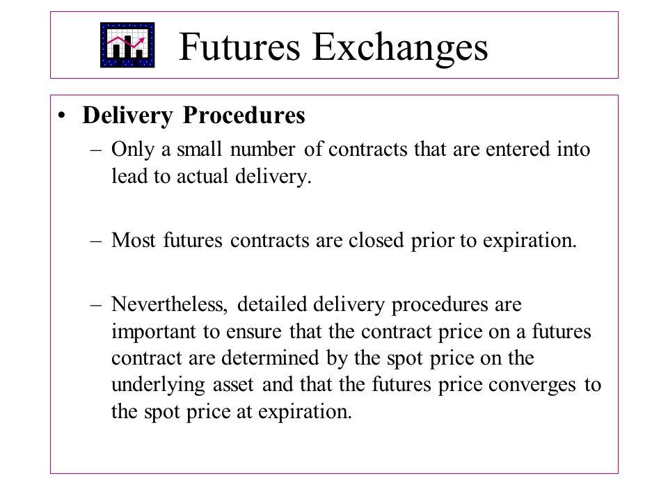 Futures Exchanges Delivery Procedures