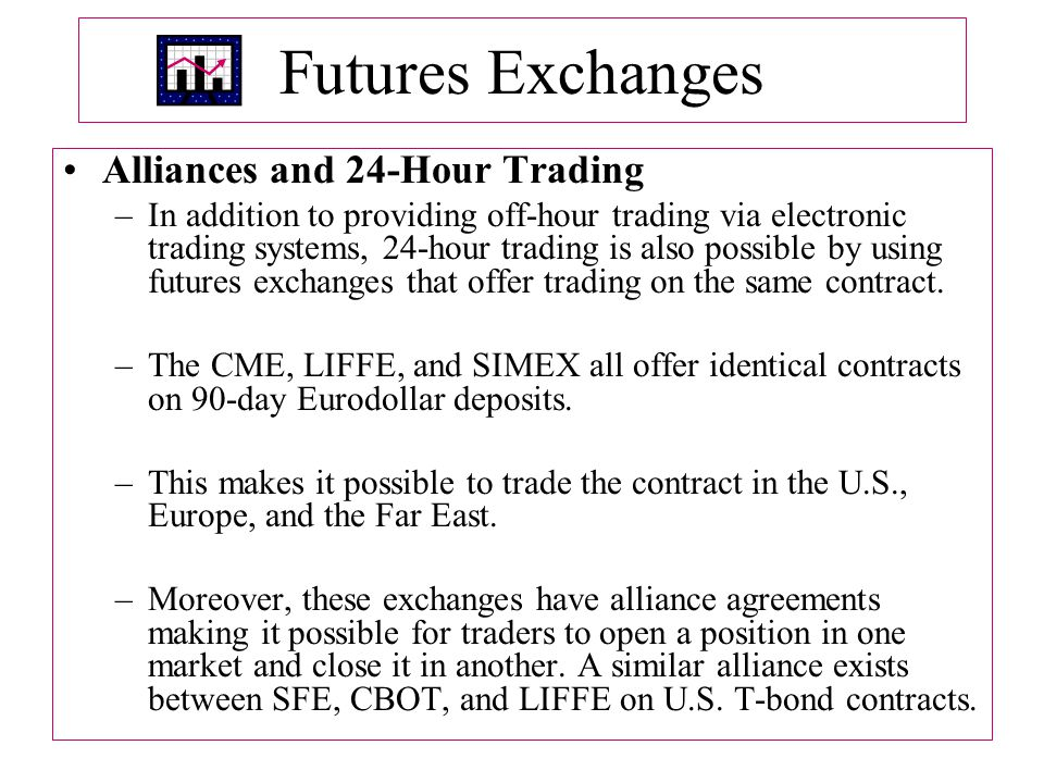 Futures Exchanges Alliances and 24-Hour Trading