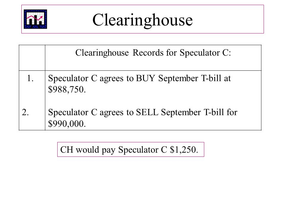 Clearinghouse Records for Speculator C: