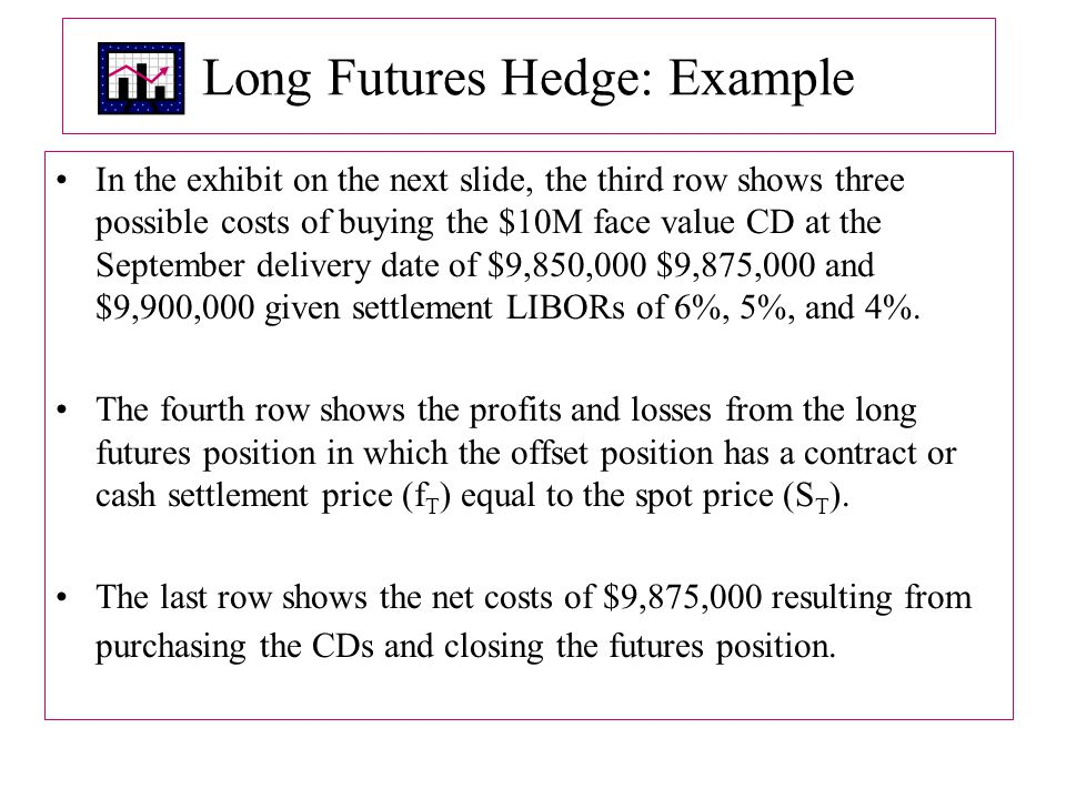 Long Futures Hedge: Example