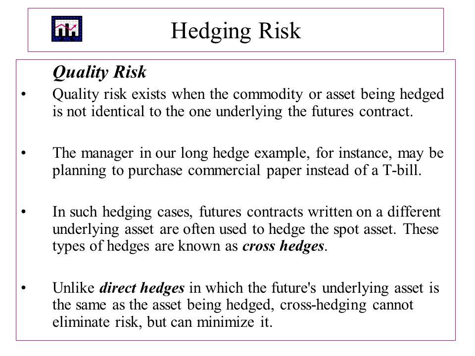 Hedging Risk Quality Risk