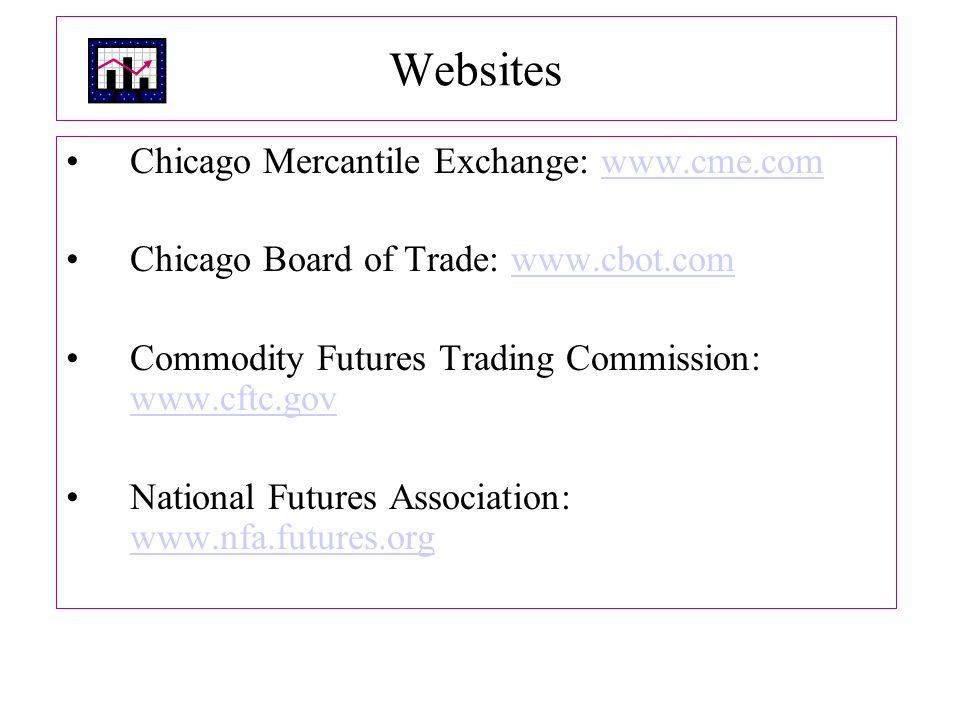 Websites Chicago Mercantile Exchange: www.cme.com