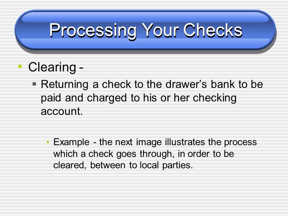 Processing Your Checks