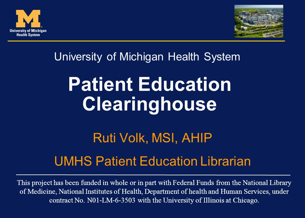 Patient Education Clearinghouse
