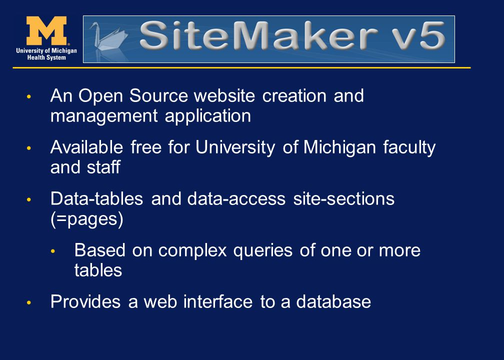 An Open Source website creation and management application