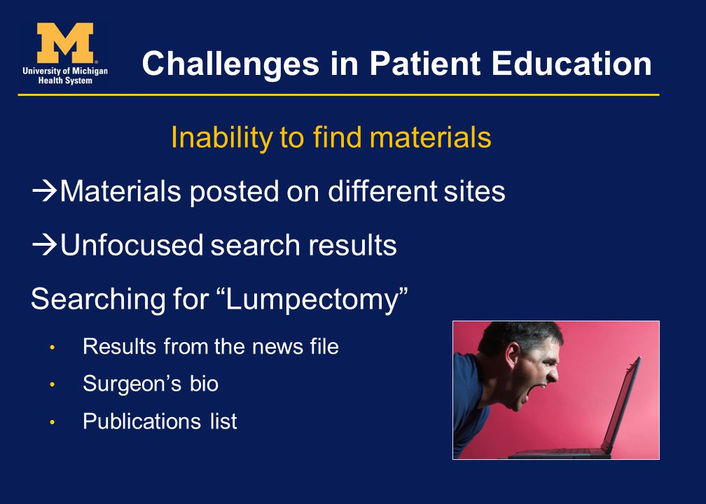 Challenges in Patient Education