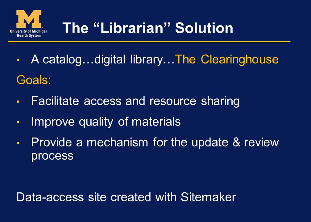 The Librarian Solution