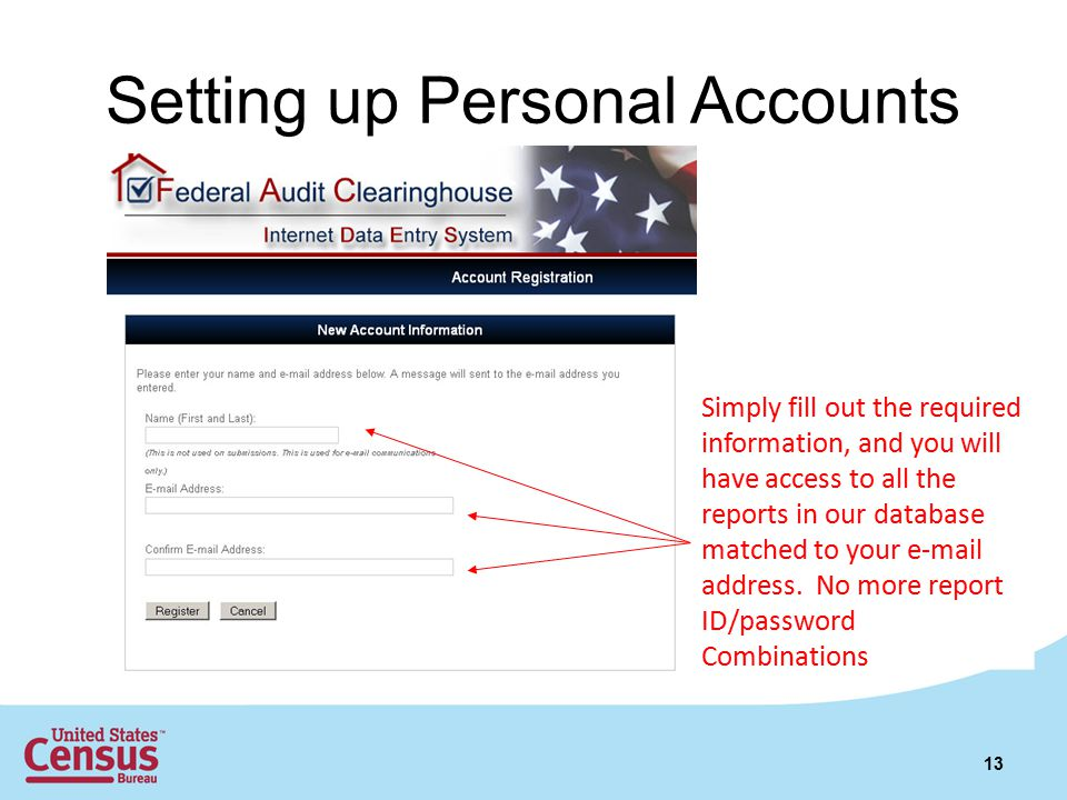 Setting up Personal Accounts