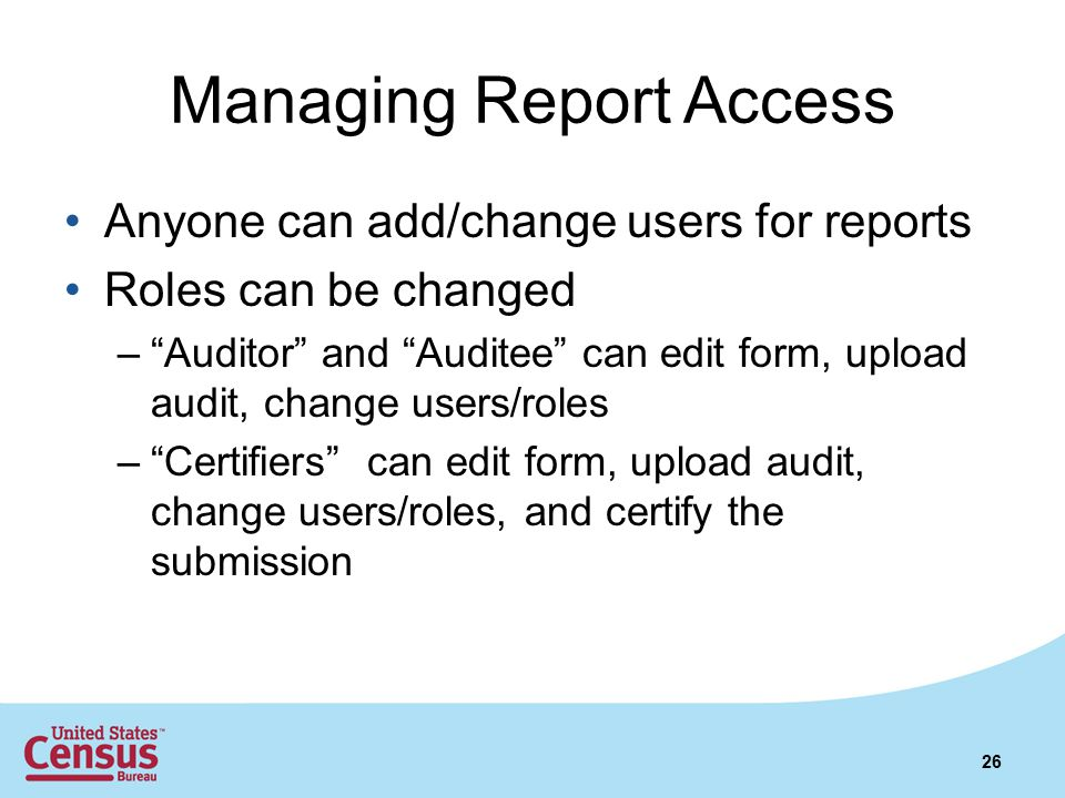 Managing Report Access