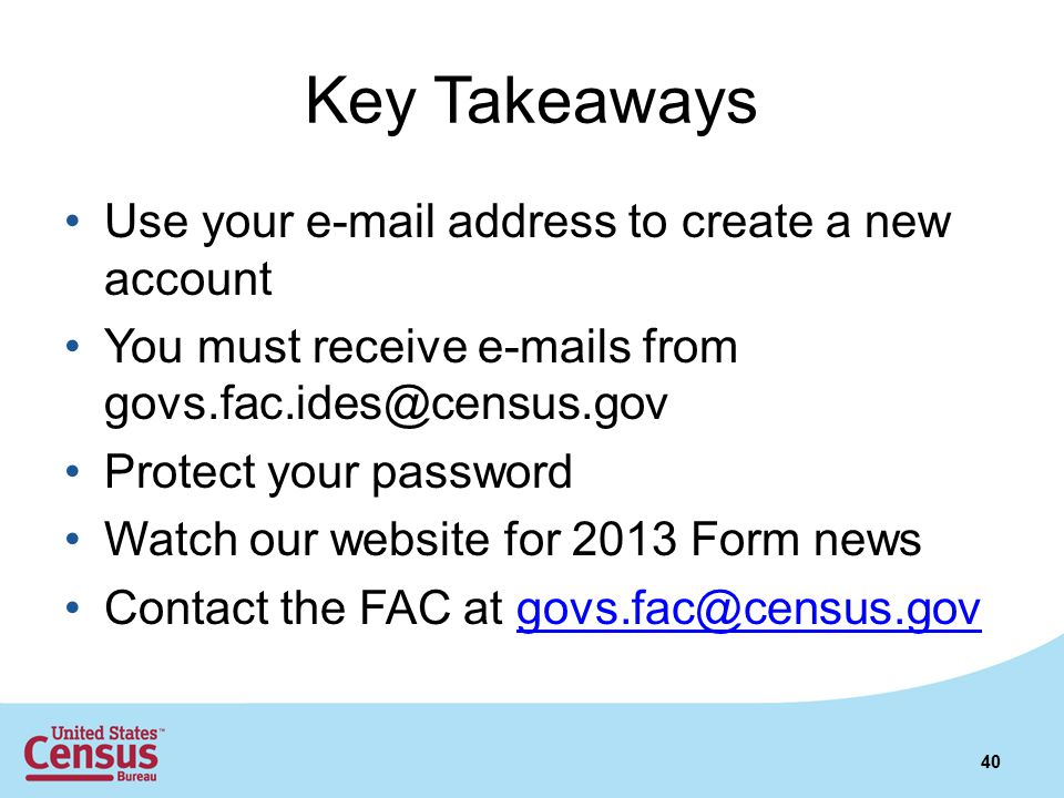 Key Takeaways Use your e-mail address to create a new account