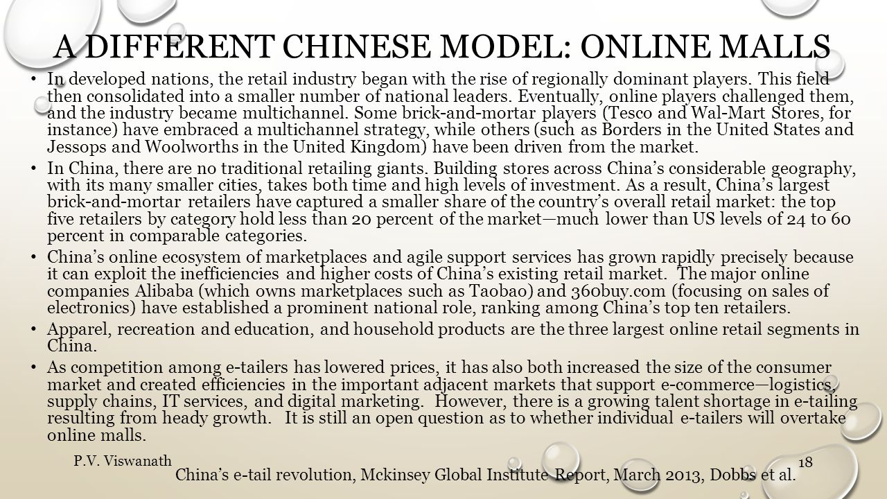A different Chinese model: online malls