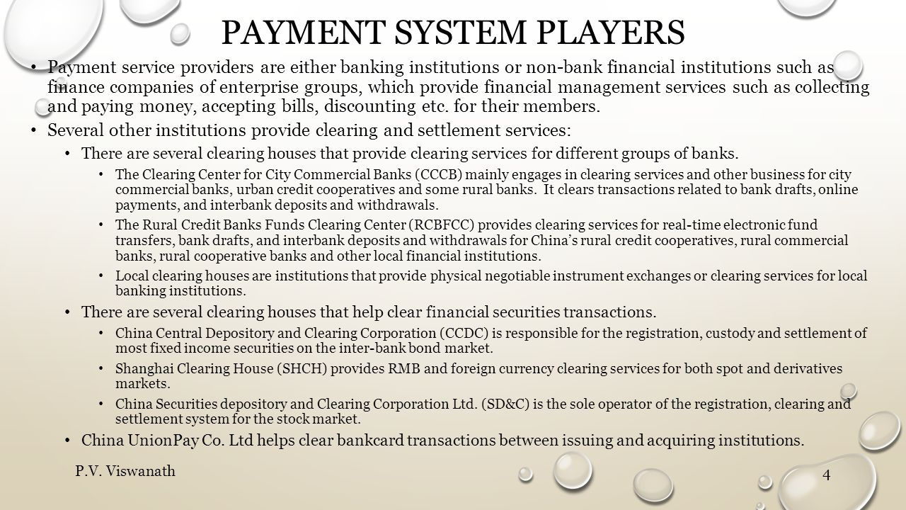 Payment system players