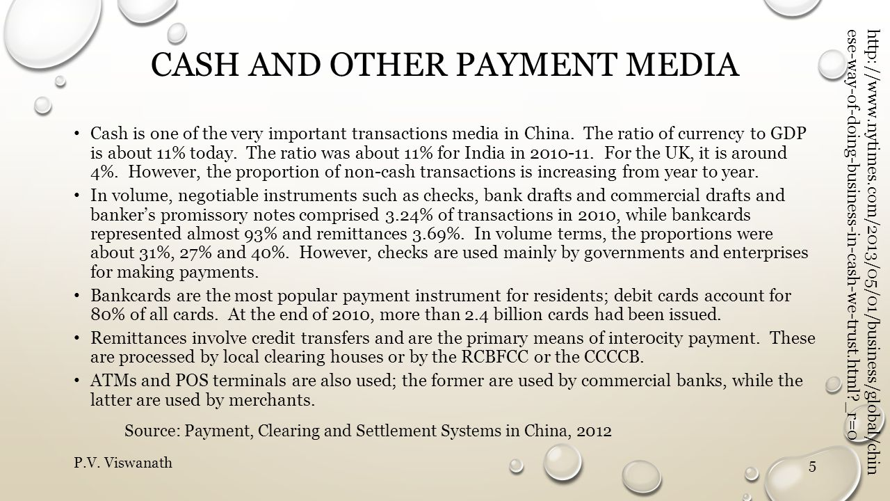 Cash and other Payment media