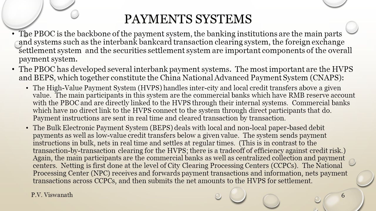 Payments systems