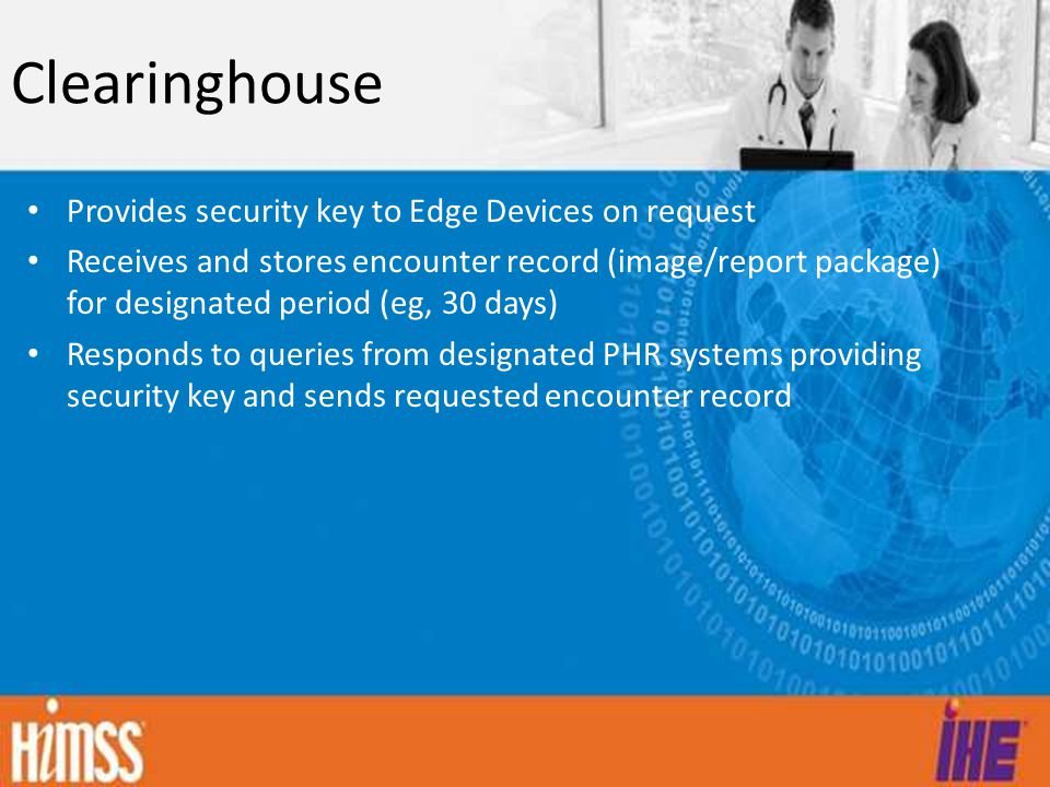 Clearinghouse Provides security key to Edge Devices on request