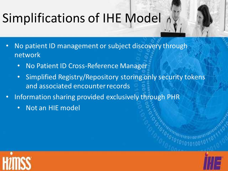 Simplifications of IHE Model