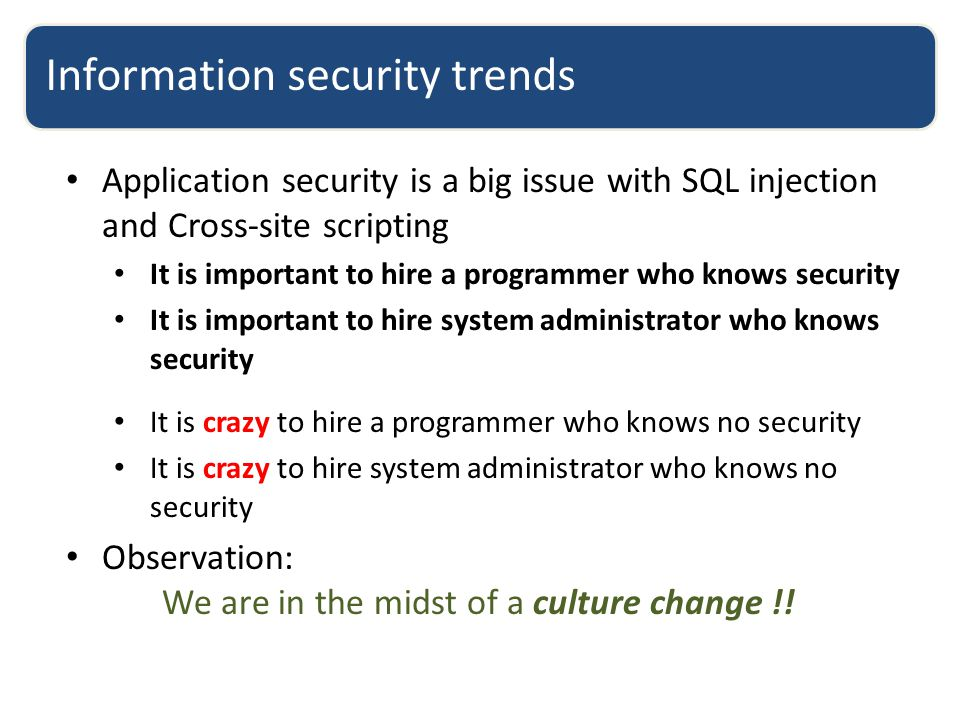 Information security trends