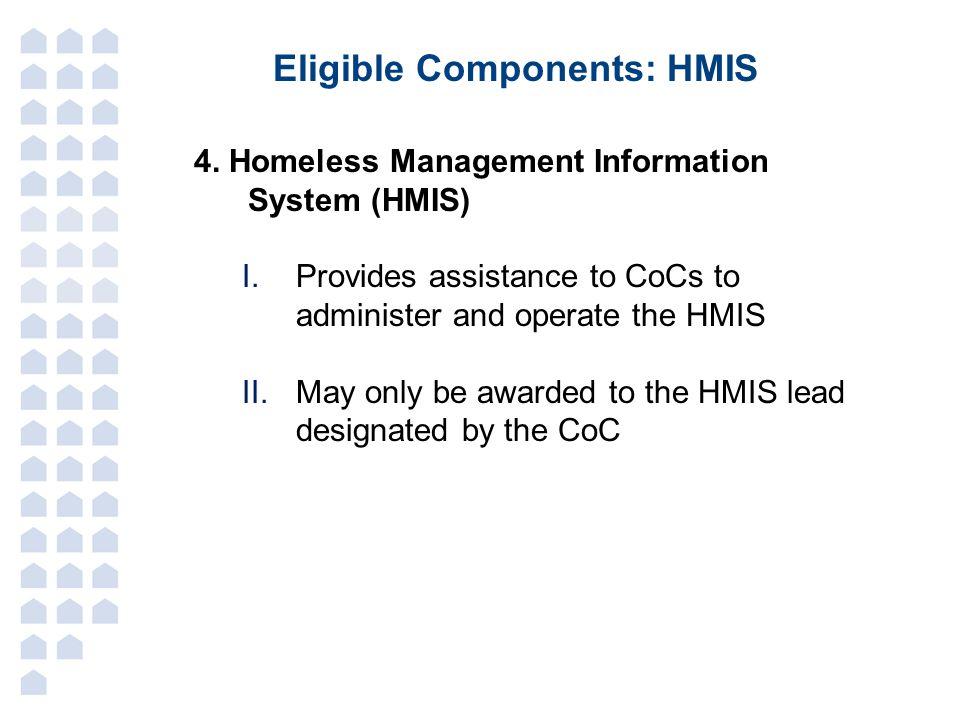 Eligible Components: HMIS