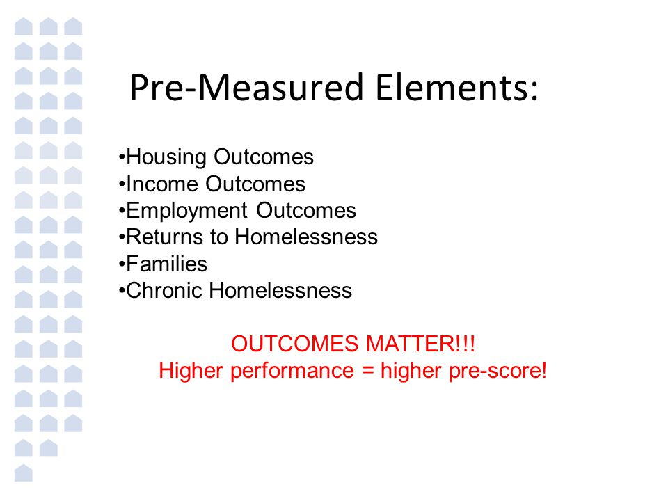 Pre-Measured Elements: