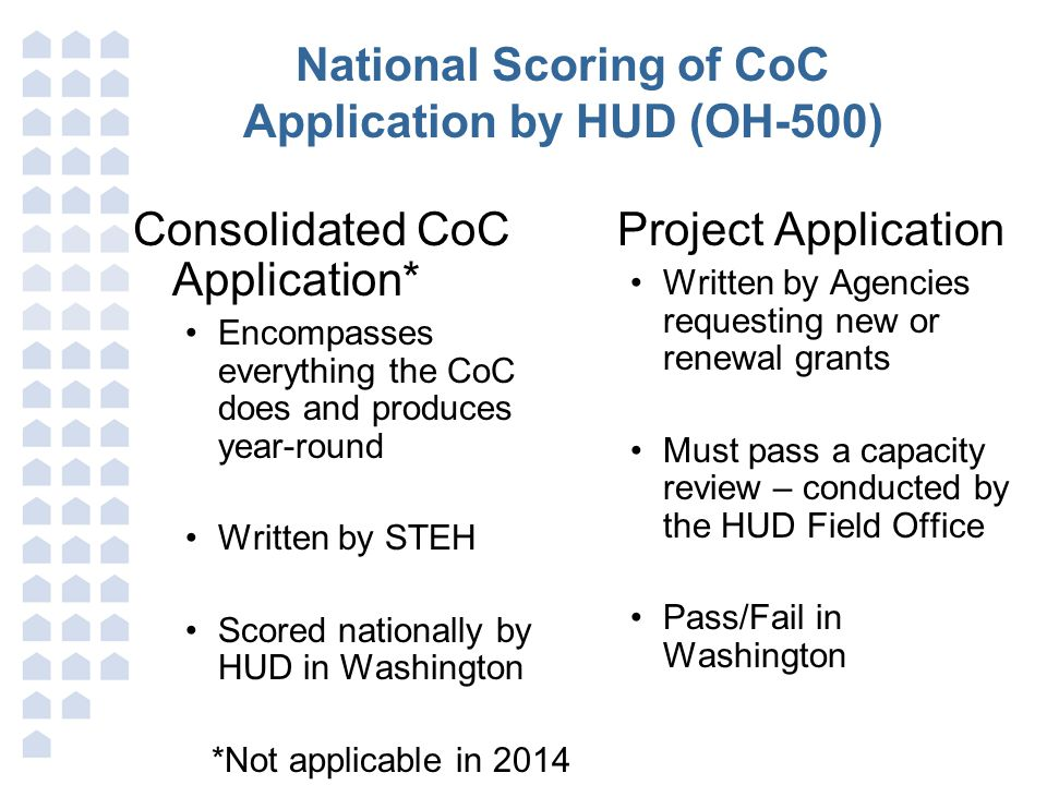 National Scoring of CoC Application by HUD (OH-500)