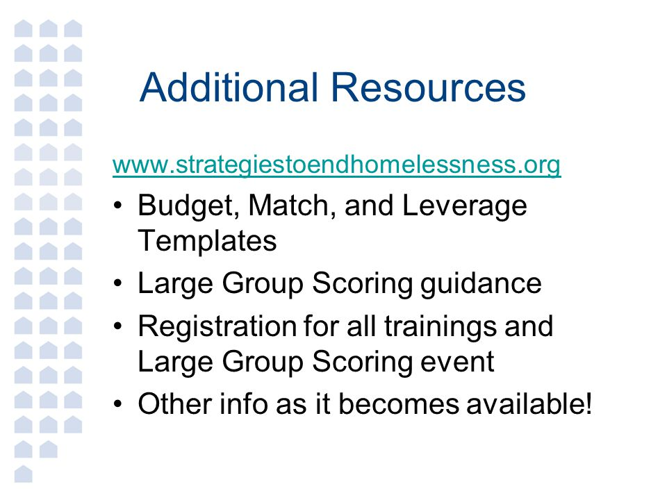 Additional Resources Budget, Match, and Leverage Templates