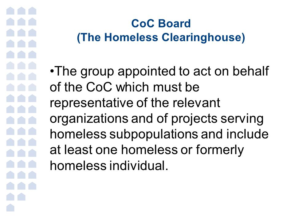 (The Homeless Clearinghouse)