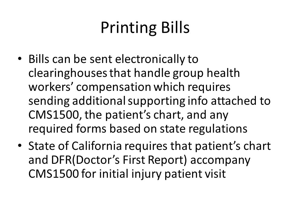 Printing Bills
