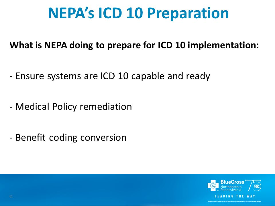 NEPA's ICD 10 Preparation