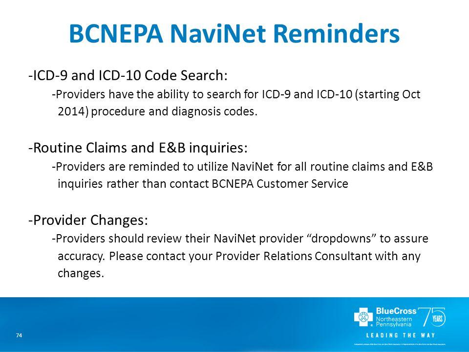 BCNEPA NaviNet Reminders
