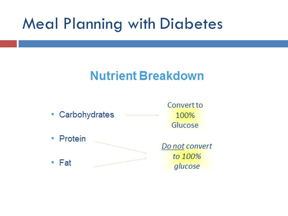 Meal Planning with Diabetes