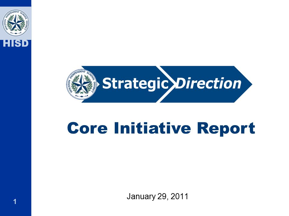 Core Initiative Report