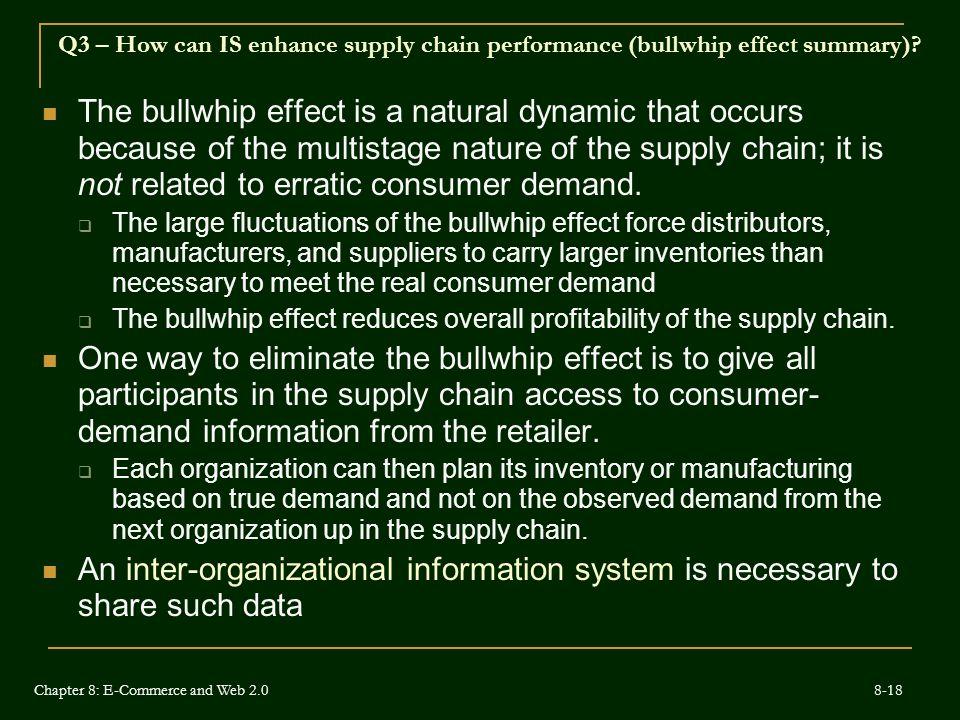 Q3 – How can IS enhance supply chain performance (bullwhip effect summary)